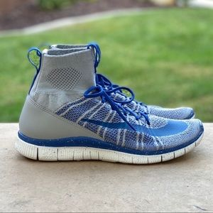 Nike Free Flyknit Mercurial Grey/Royal NEW